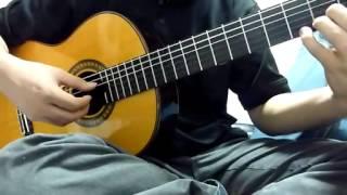 息抜きにアラジンの曲を弾いてみました。 使用した楽譜は「ソロ・ギター...