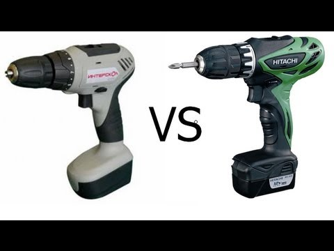 HITACHI DS 10 DFL Li-on vs Интерскол акк.  ДА-10-18 LiOn