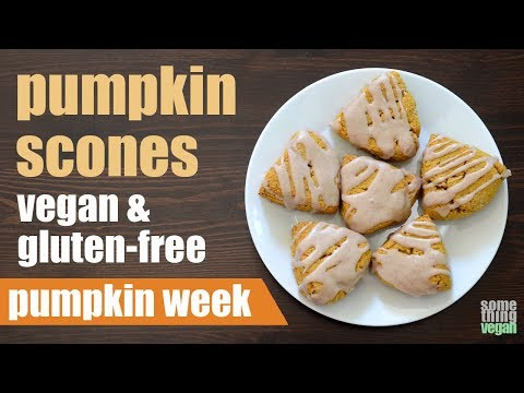 Pumpkin Scones (vegan & Gluten-free) Something Vegan Pumpkin Week