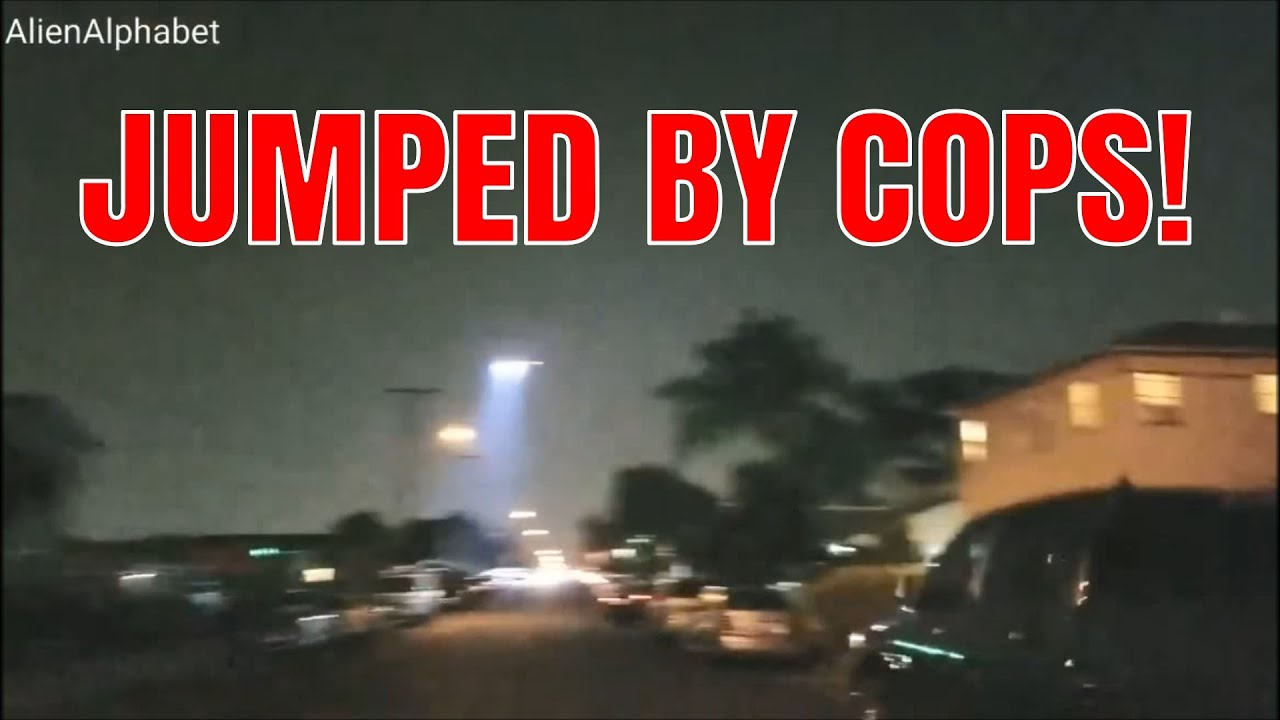 ALIEN ALPHABET JUMPED BY COPS AND ARRESTED