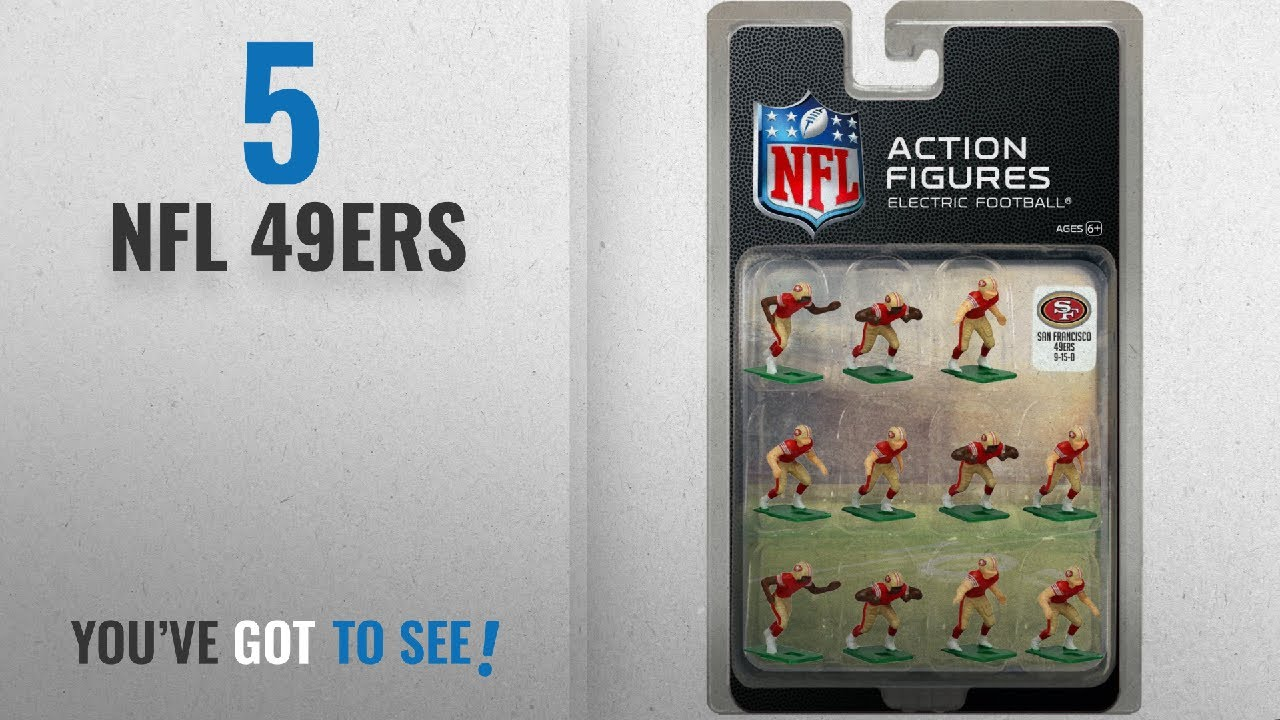 size 40 7e935 0a2d1 Top 10 NFL 49Ers [2018]: San Francisco 49ers Home Jersey NFL Action Figure  Set