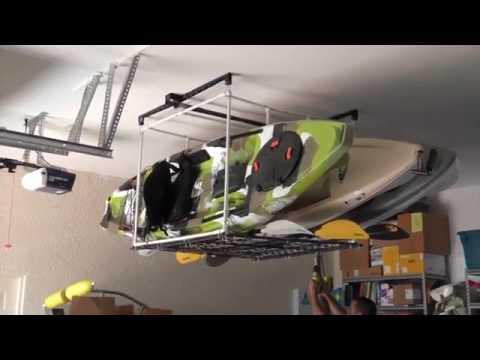 Garage Kayak Hoist Storage Solution