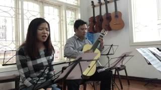Im lặng đêm Hà nội (ns Phú Quang) - Hà Thương ft Hùng Phong guitar.