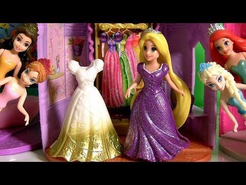 Boneca Rapunzel MagiClip Princesas Disney Frozen Anna e Elsa Uma Aventura Congelante ...