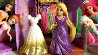 Boneca Rapunzel MagiClip Princesas Disney Frozen Anna e Elsa Uma Aventura Congelante Magic Clip