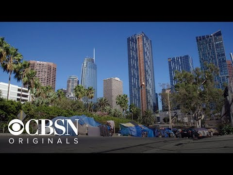 From LA's Skid Row luxury buildings tower over homeless encampments