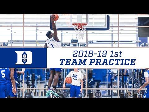 Duke Basketball 18-19: First Practice (7/25/18)