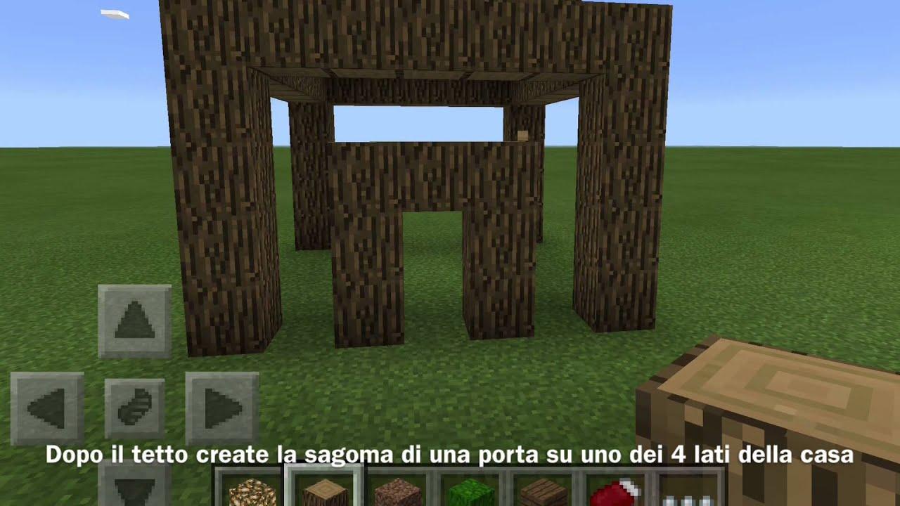 Come costruire una casetta di legno su minecraft youtube for Come costruire una casa pueblo