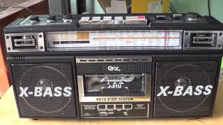 Introduction to the QFX J 21 U AM FM Shortwave boombax with cassette and MP3