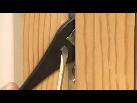 How To Replace the Lock Lever and Bezel on Custom Wood Casement Windows