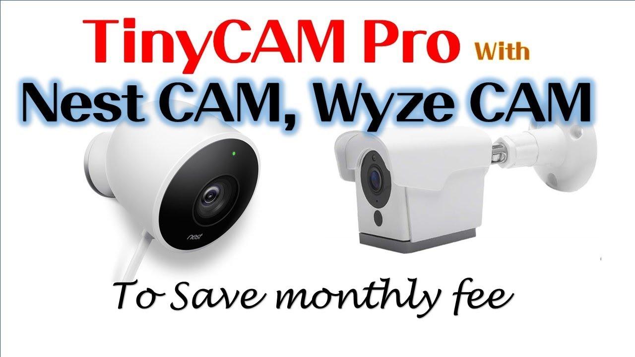 tinycam pro - How to setup for Nest CAM & Wyze CAM | #tinycam #nextcam  #wyzecam