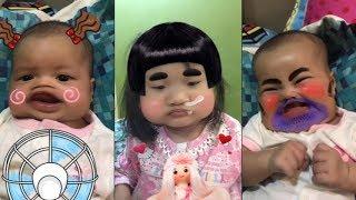 Cười Toét Miệng Khi Bé Bị Bố Troll Làm Mặt Méo - An Di An Nhiên - Funny Troll Baby
