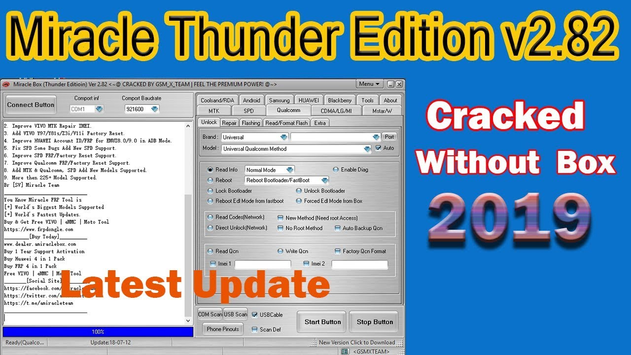 Miracle Box V2 82 Thunder edition Latest miracle box crack 2019 by MoBile  GuRu