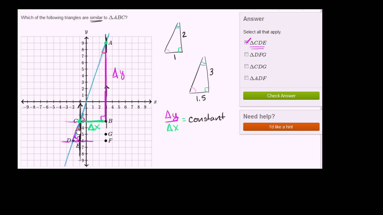 Slope and triangle similarity 4