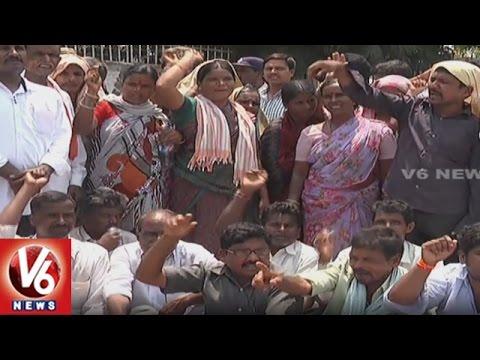 Farmers Protest Against Charlagudem Project   Demands For Compensation   Nalgonda   V6News