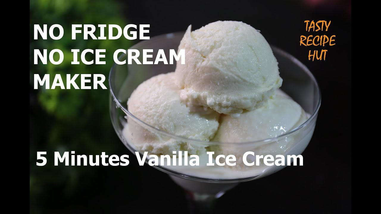 No Need To Wait 8 Hours Make Your Ice Cream Without Fridge In 5 Minutes Youtube