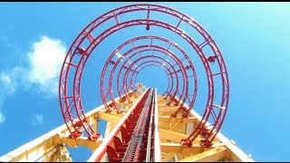 Hollywood Rip Ride Rockit POV at Universal Studios Vertical DROP Roller Coaster Florida