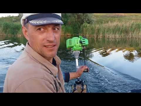 Насадка лодочный мотор ТАТРА ГАРДЕН  в работе