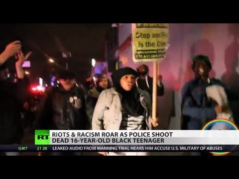 'Racist Murder': Brooklyn in chaos after cops kill teen