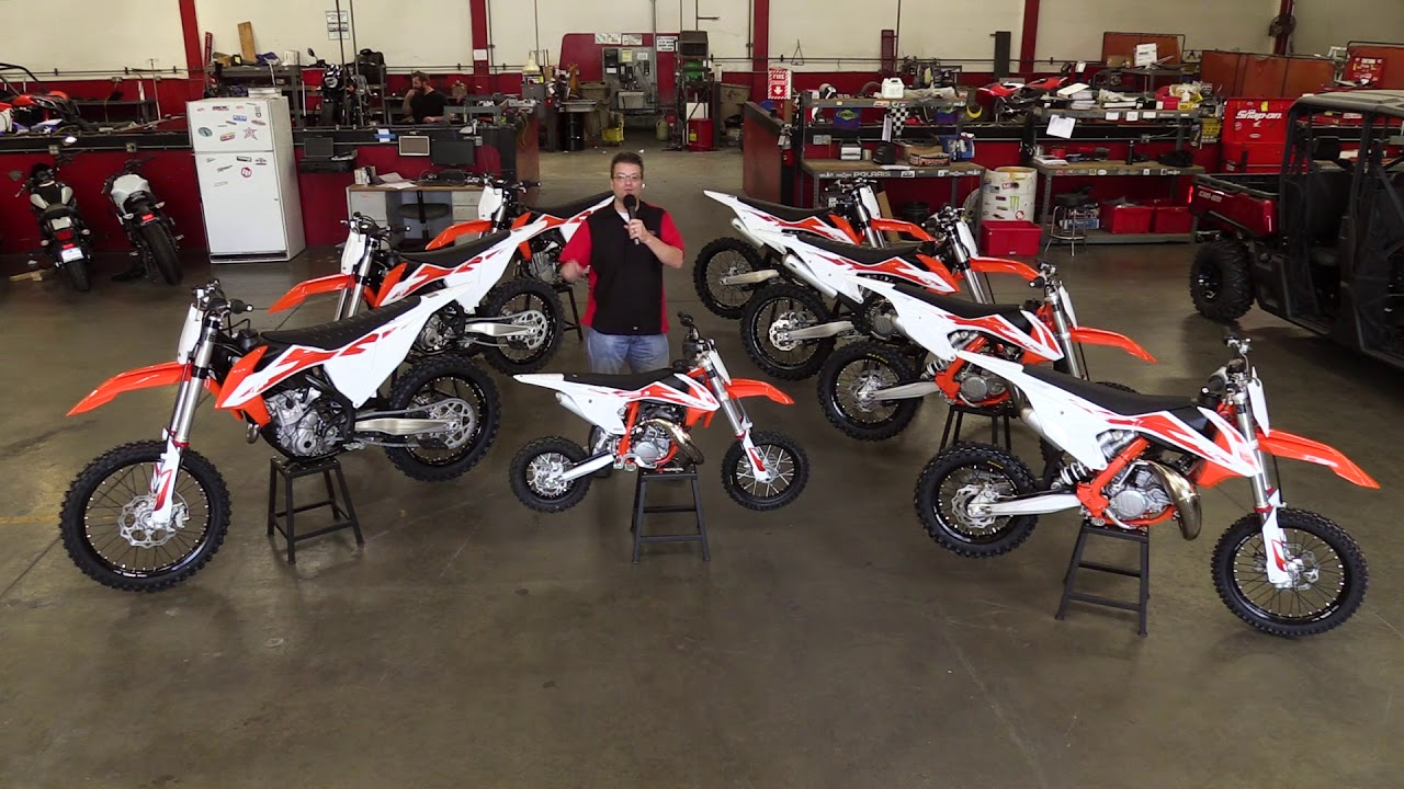 First Look! 2020 KTM SX Dirt Bikes 50cc 85cc 150cc 250cc 450cc 2 and 4  Stroke