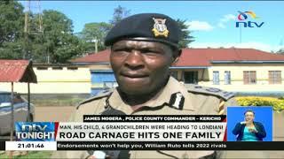 6 relatives die as their car rams a truck on Kericho-Kisumu road