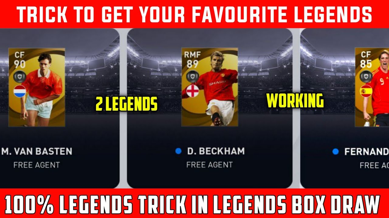 WORKING LEGENDS TRICK IN LEGENDS EUROPEAN NATIONAL TEAMS BOX DRAW : PES 2021 MOBILE