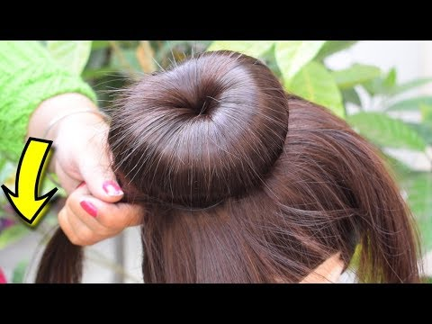 New amazing Juda Hairstyle with using Dount bun || Easy wedding juda hairstyle trick New Year 2019 thumbnail