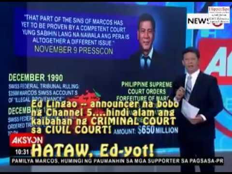 Ed Lingao tv5 idiot fallacy report 1