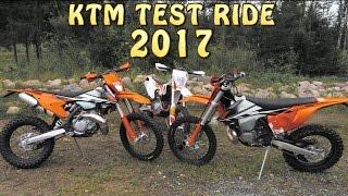 KTM TEST RIDE 2017 EXC 250 300 450