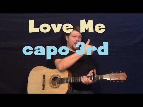 Love Me (Elvis) Easy Guitar Lesson Capo 3rd Fret How to Play Tutorial