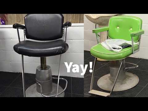 Updating My Vintage Green Raymond Salon Chair To Black