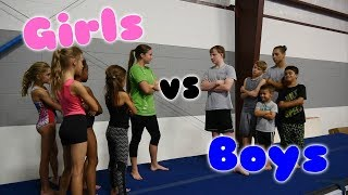 Boys VS Girls Gymnastics Challenge| Rachel Marie thumbnail