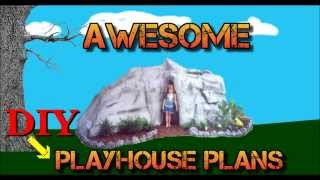 How To Build An Outdoor Playhouse With Awesome Outdoor Playhouse Plans