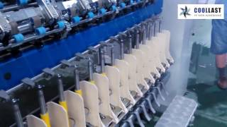 Ring spinning machine / for worsted yarn - coollast factory footage