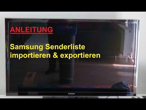 Samsung Smart TV Senderliste auf USB Stick speichern / laden - Sender importieren & exportieren