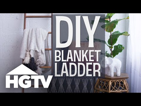 DIY Blanket Ladder - HGTV Happy