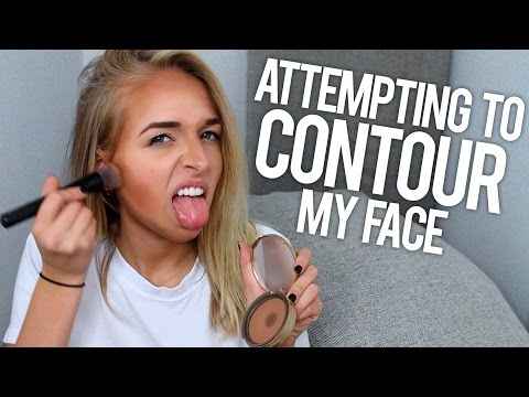 ATTEMPTING TO CONTOUR MY FACE