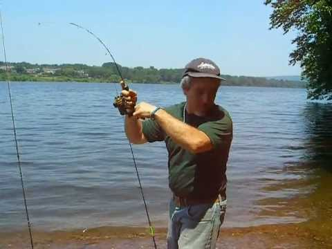 fighting a nice carp on a ultra-light ice fishing rod and reel, Reel Combo