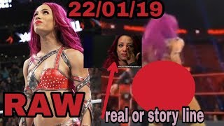 Monday night raw Sasha bank incident real or story line.