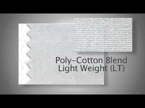 About our standard poly-cotton fabrics | On Call Medical Coats 877-355-2898