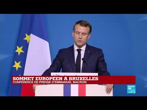 Emmanuel Macron sur les