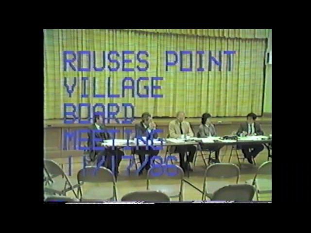 Rouses Point Village Board Hearing  11-17-86