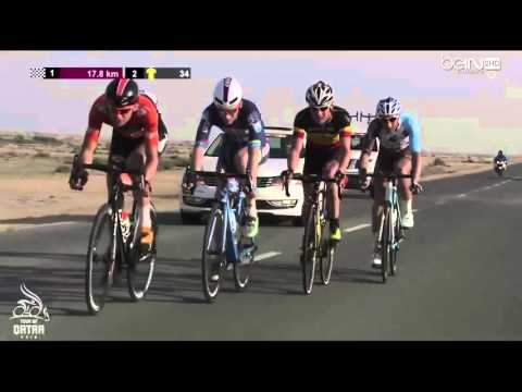 Tour of Qatar 2016 HD   Stage 4   EXTENDED FINAL KILOMETERS