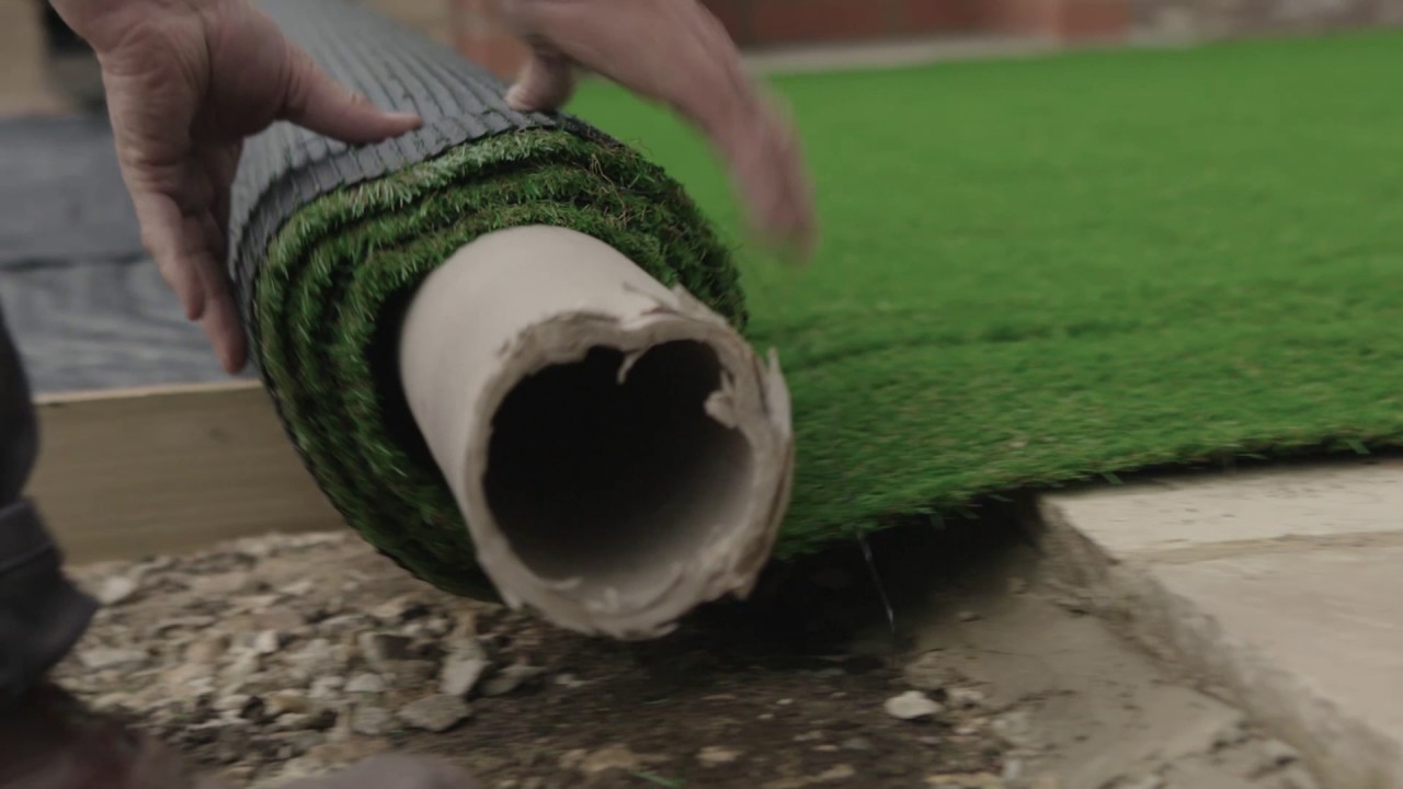 Fake Brick Wall Bunnings How To Create A New Lawn From Artificial Turf D I Y Advice At Bunnings