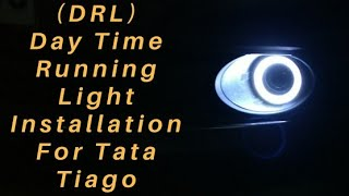 Tata Tiago Day time running light (DRL) installation & look