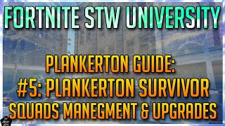 PLANKERTON SURVIVOR SQUADS UPDATE! SURVIVOR SQUADS GUIDE! [FORTNITE STWU]