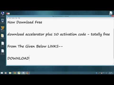download accelerator plus 10 activation code - YouTube