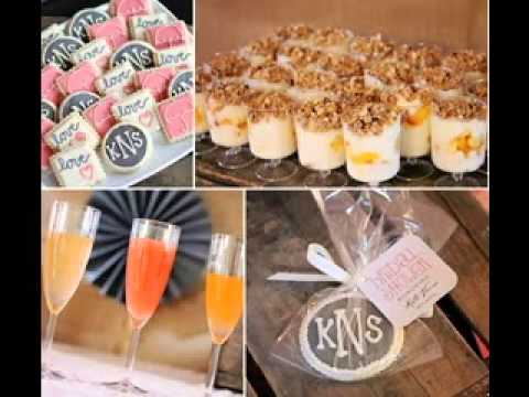 Wedding shower brunch decorating ideas - YouTube