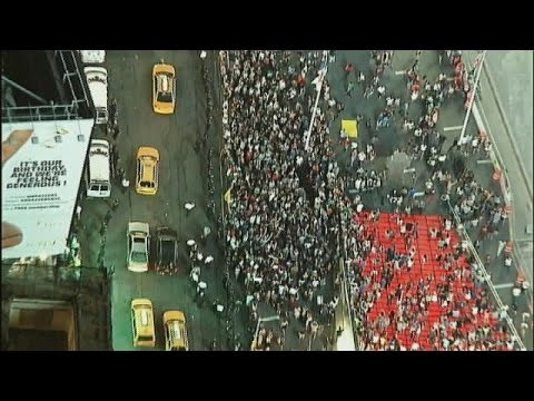 Thousands rally in Times Square over Ferguson shooting