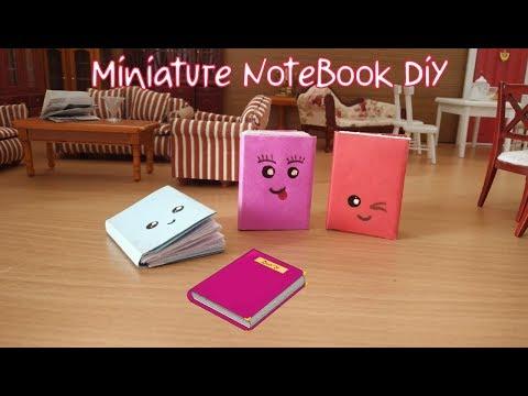 DIY MINI NOTEBOOKS ONE SHEET OF PAPER - Miniature NoteBook Diy